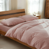 Комплект постельного белья из однотонного льна Пудра