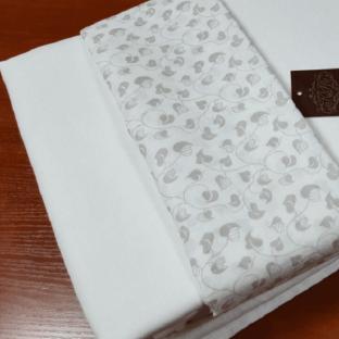 Комплект постельного белья из однотонного льна Дуэт белый