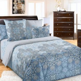 Комплект постельного белья из хлопка Ажур морской