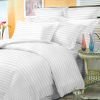 Комплект постельного белья из страйп-сатина Stripe PREMIUM, WHITE 2/2 см