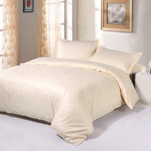 Комплект постельного белья из страйп-сатина Stripe PREMIUM, CHAMPAGNE 1/1 см