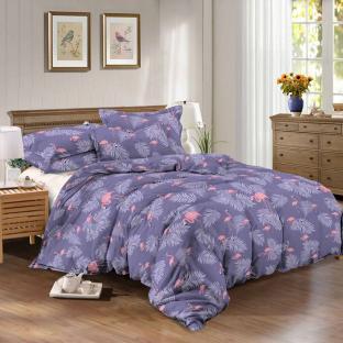Комплект постельного белья из сатина Фламинго Фиолет