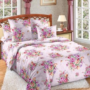 Комплект постельного белья из перкаля Розовый букет