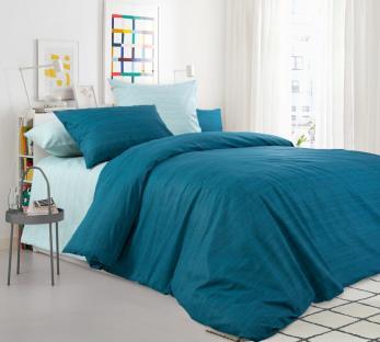 Комплект постельного белья из перкаля Морской бриз