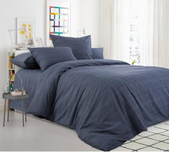 Комплект постельного белья из перкаля Графит