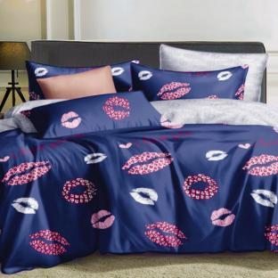 Комплект постельного белья из сатина Поцелуй