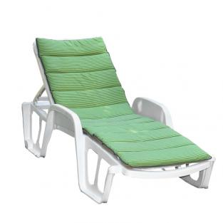 Матрас на лежак Onda Texilk зелено-салатовая полоска 5 мм