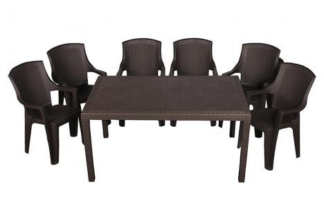 Набор стол Prince + 6 кресел Eden