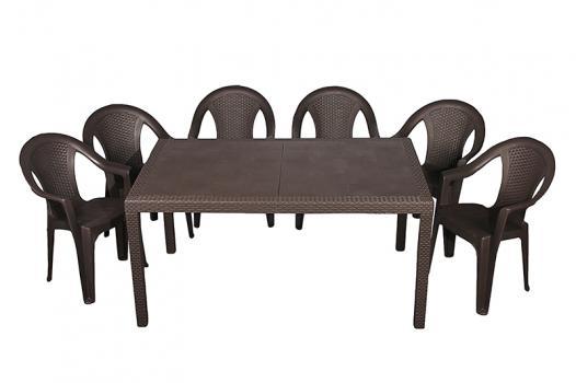 Набор стол Prince + 6 кресел Ischia