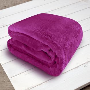 Плед микрофибра Elway Пурпурный 200х220 см