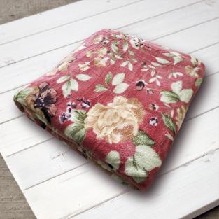 Плед микрофибра Elway Бордовые розы 160х210 см
