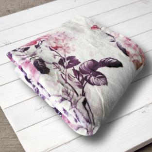 Плед микрофибра Elway Розы на розовом 160х210 см