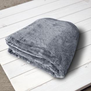 Плед микрофибра Elway Темно-серый 200х220 см