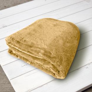 Плед микрофибра Elway Горчица 160х210 см
