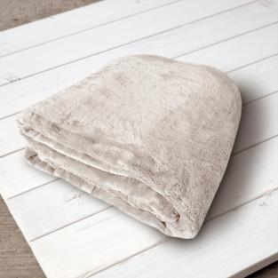 Плед микрофибра Elway Кремовый 160х210 см
