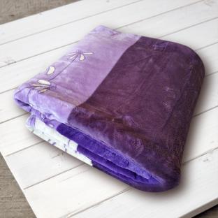 Плед-простынь Elway Фиалка фиолетовая (микрофибра) 160х210 см