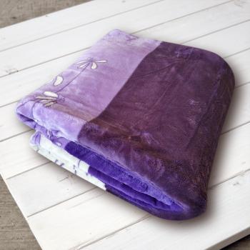 Плед микрофибра Фиалка фиолетовая