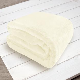 Плед микрофибра Elway Белый 200х220 см