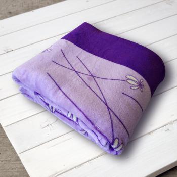 Плед из микрофибры True Love Фиалка фиолетовая 160х210 см