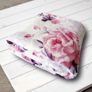 Плед из микрофибры True Love Розы на розовом 200х220 см