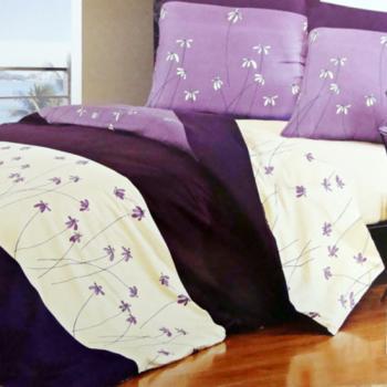 Комплект постельного белья полуторный Elway 029 Purple Flowers