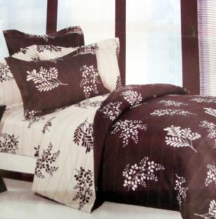 Комплект постельного белья из сатина Chocolatte Leaves
