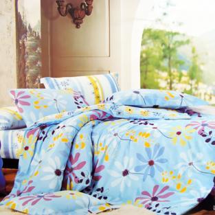 Комплект постельного белья евро Elway 4038 Camomile