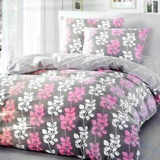 Комплект постельного белья из сатина Pink Leaves