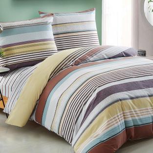 Комплект постельного белья евро Elway 5050 Brown Stripes