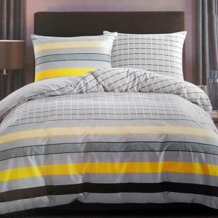 Комплект постельного белья из сатина Yellow Stripes