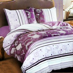 Комплект постельного белья евро Elway 5072 Purple Circle