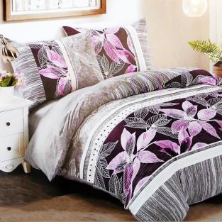 Комплект постельного белья евро Elway 5075 Lilies