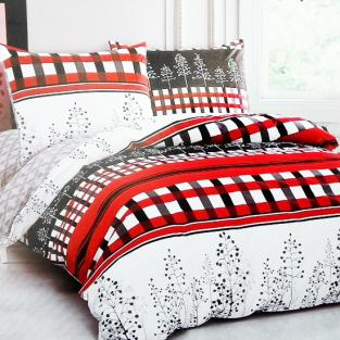 Комплект постельного белья евро Elway 5078 Red and Black