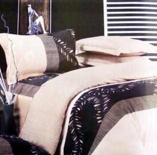 Комплект постельного белья из сатина Beige and Black