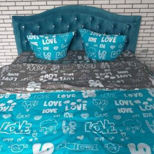 Комплект постельного белья из бязи Soft Textile Home Love евро