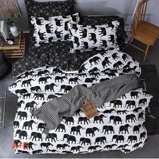 Комплект постельного белья семейный из бязи Soft Textile Home Элефант