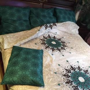 Комплект постельного белья из бязи Soft Textile Home Круги евро