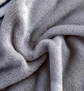 Плед-покрывало из микрофибры велсофт TAG Happy Day серый 200х220 см