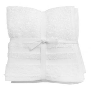 Набор махровых полотенец Белые 30x30 см 6 шт