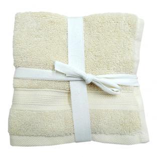 Набор махровых полотенец Крем 30x30 см 5 шт