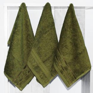 Набор махровых полотенец Зеленый 30x50 см 3 шт