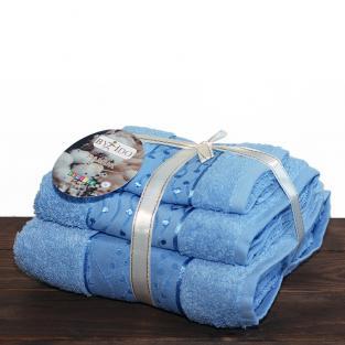 Набор махровых полотенец By IDO Twig Blue 3 шт