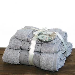 Набор махровых полотенец By IDO Twig Grey 3 шт