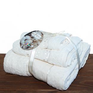 Набор махровых полотенец By IDO Twig Milk 3 шт