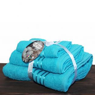 Набор махровых полотенец By IDO Stripe Turquoise 3 шт