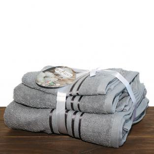 Набор махровых полотенец By IDO Stripe Grey 3 шт