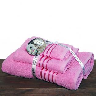 Набор махровых полотенец By IDO Stripe Rose 3 шт