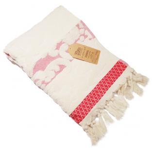 Полотенце махровое для лица Жаккард Косичка розовое 50x90 см