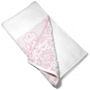 Полотенце махровое для лица Жаккард узор розовое 50x90 см