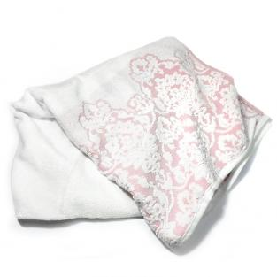 Полотенце махровое для душа Жаккард узор розовое 70x140 см